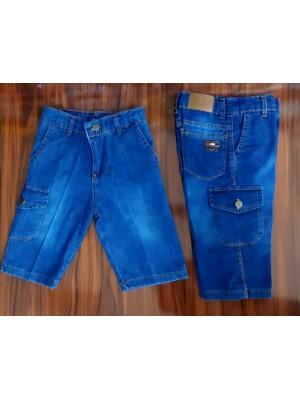 Модные джинсовые капри с карманами