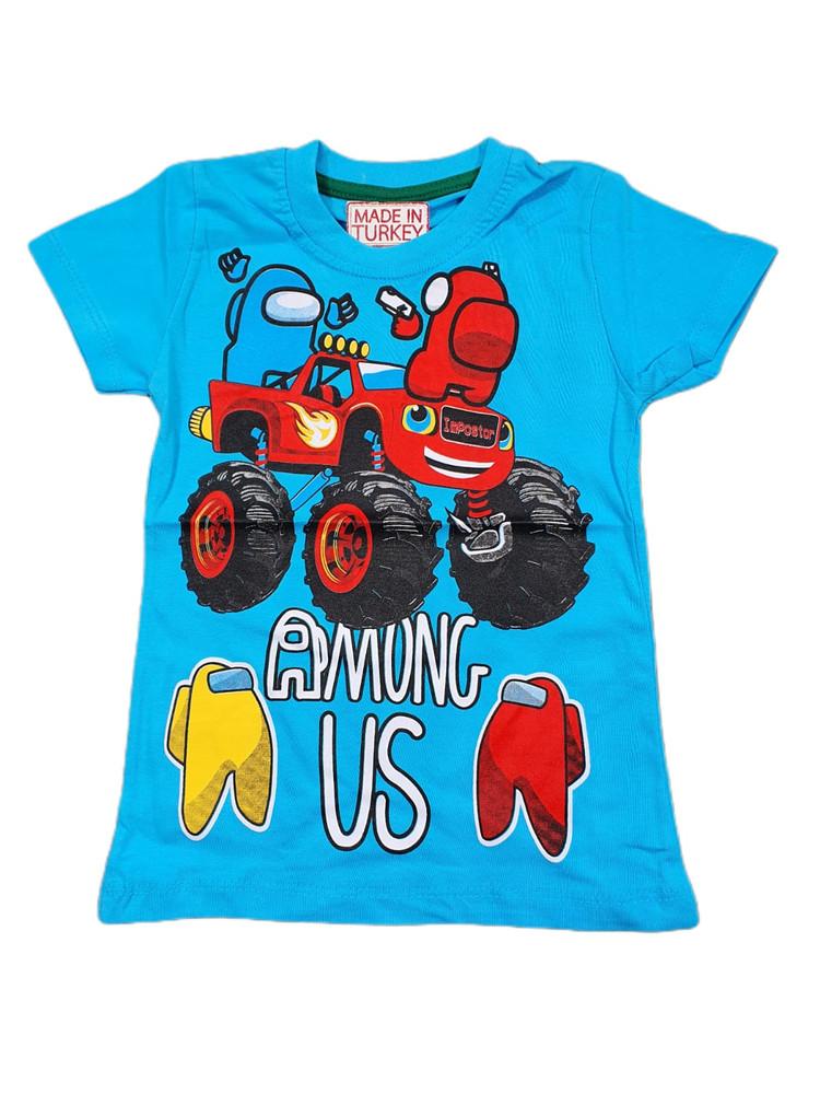Хлопковые футболки модель 3.TRG.3657.MAVI