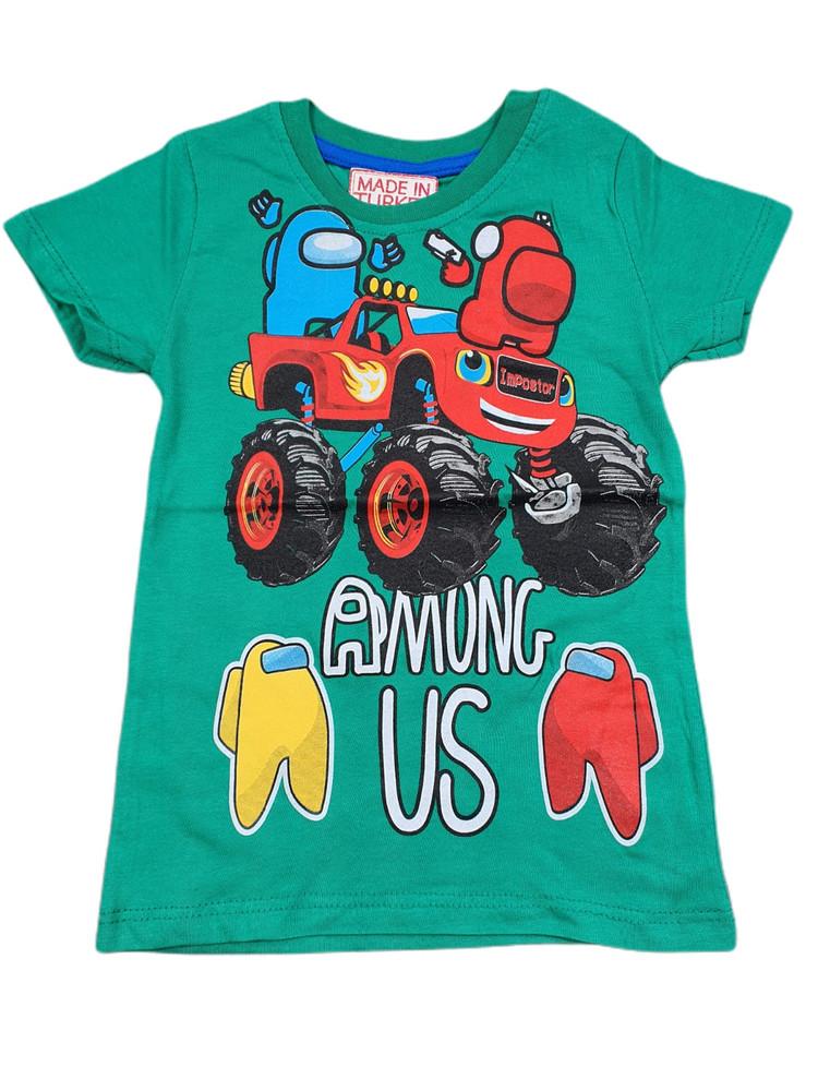 Хлопковые футболки модель 3.TRG.3657.YESIL
