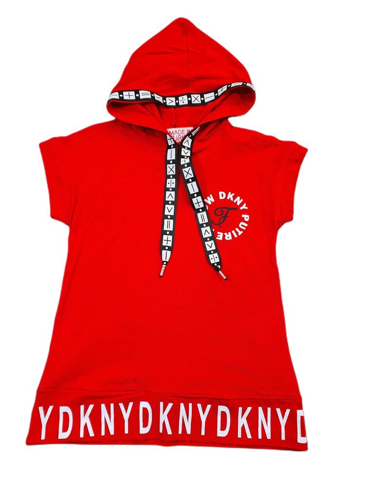 Хлопковые платья c капюшоном, качественные, полномеры модель 4.FLW.1301.KIRM