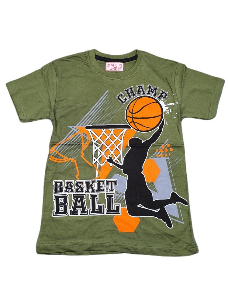 Хлопковые футболки модель 3.MPP.BUYUK.2592.HAKI