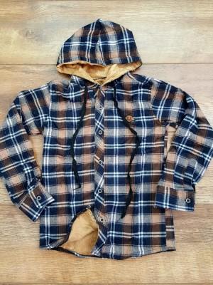 Рубашки утепленные подростковые