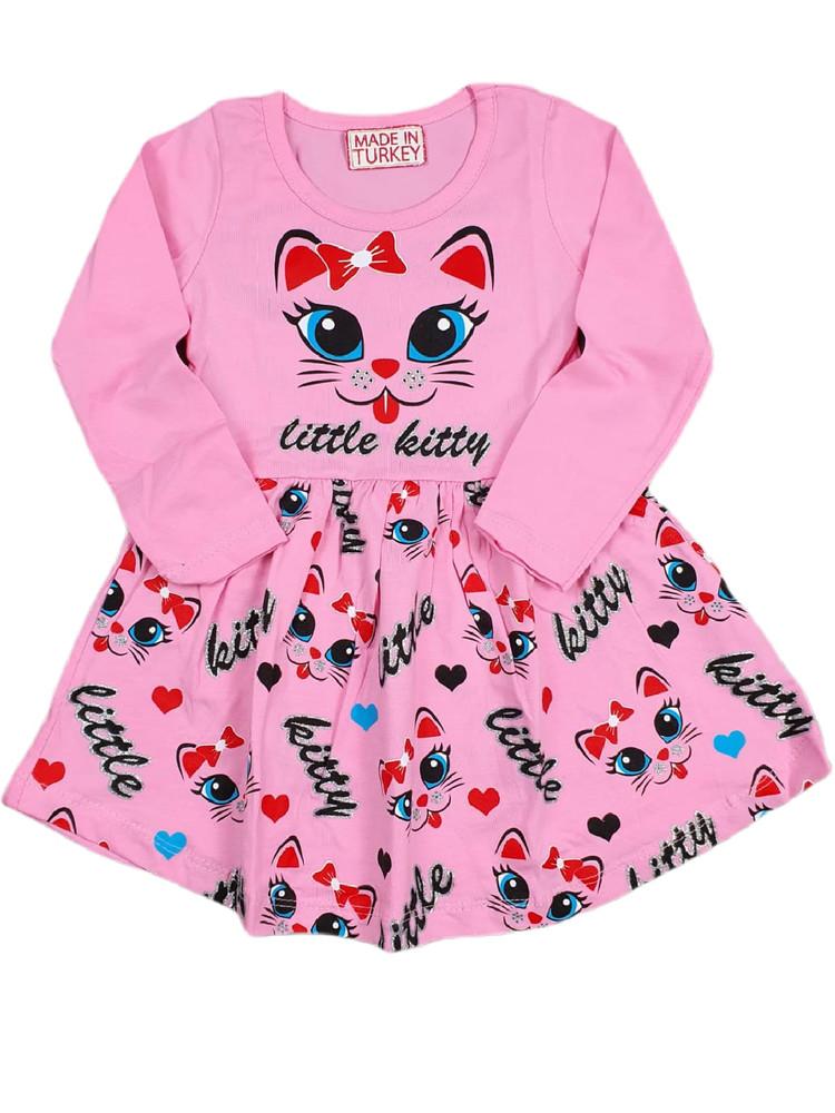 Платья хлопковые модель 4.HCL.3501.KEDI.PEMBE