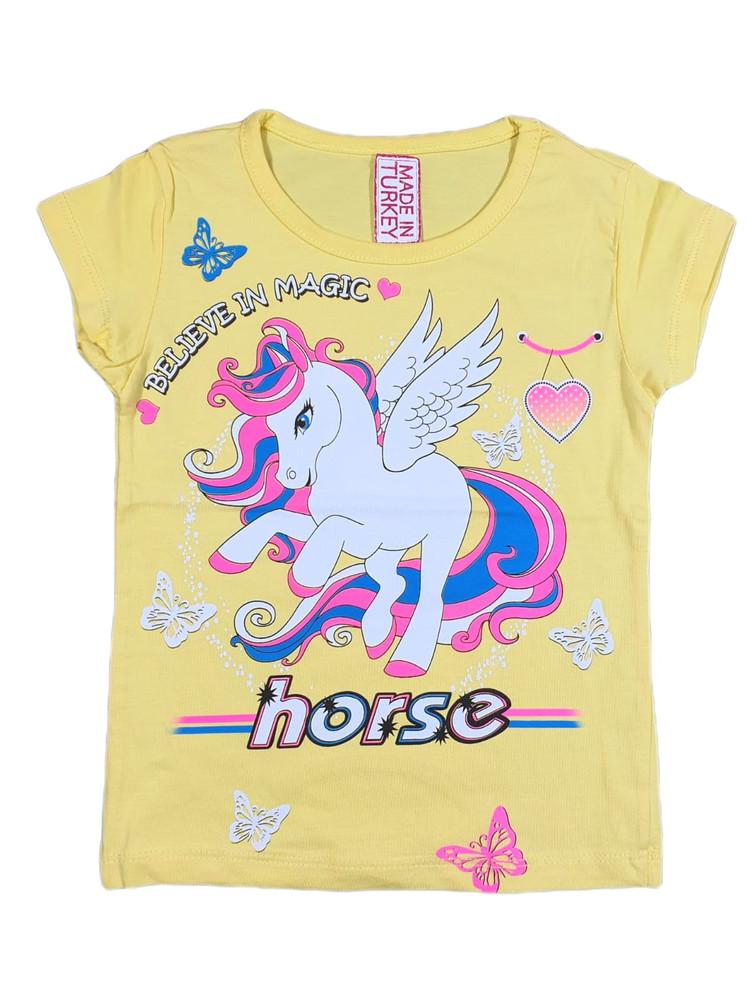 Хлопковые футболки модель 4.TRG.3566.HORSE.SARI