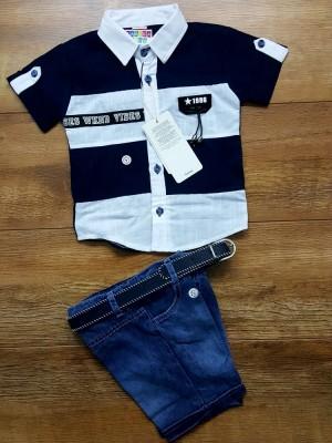 Костюм ЛЮКС с рубашкой и джинсовыми шортами