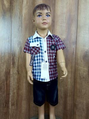 Люксовый костюм с рубашкой и вшитыми апликациями